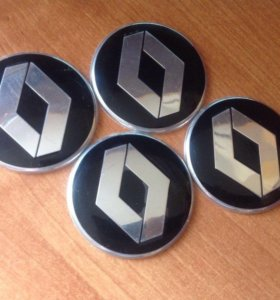 Алюминиевые колпачки / наклейки на диски Рено 4 шт
