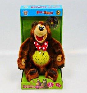 Мягкая игрушка Мишка ночник-проектор