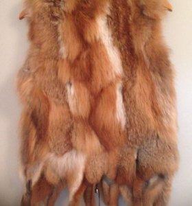 Жилет мех лисы
