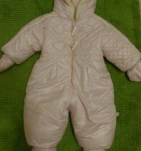 Детский зимний комбинезон 70-75см