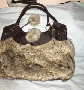 Меховая сумка Promod (новая)
