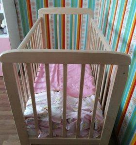 Кровать детская с продольным маятником