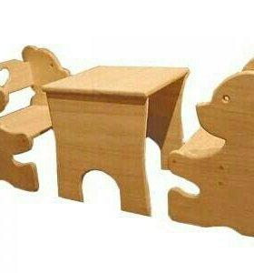 Детские столы и стульч ики # маленькая сказка#