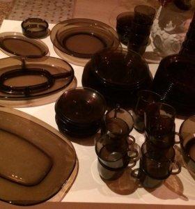 Комплект посуды стекло