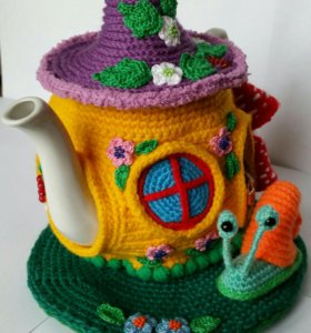 Вязанная Грелка для чайника