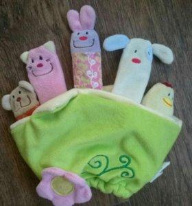 Плюшевая рукавичка-кукольный театр