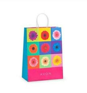 Бумажный подарочный пакет Avon