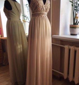 Брендовое платье в пол