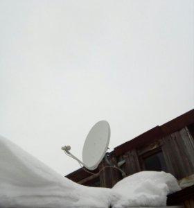 Спутниковая тарелка ТелеКарта полный комплект.