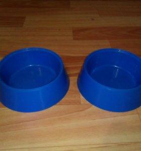 Миски синие пластиковые 2шт