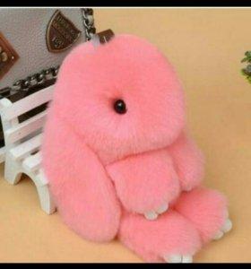 Кролик из натурального меха