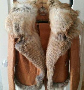 Кожаная куртка-жилет