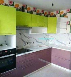 Кухня 2,7х1,6 МДФ фасады