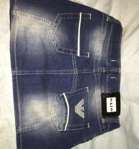 Мини- юбка джинсовая