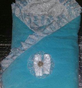 Конверт-одеяло на выписку + комплект одежды