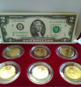 Набор монет Сакагавея