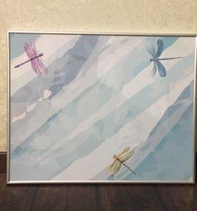Магнитно-маркерная доска со стрекозами