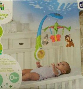 Игрушка-проектор для кроватки Бэмби