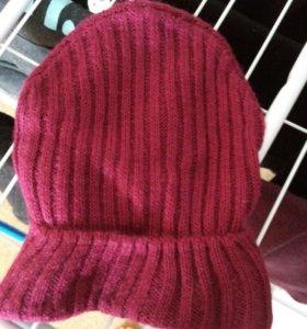 Бордовая шапка новая