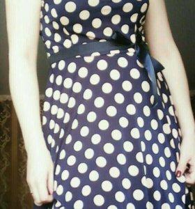платье летние,в горошек.