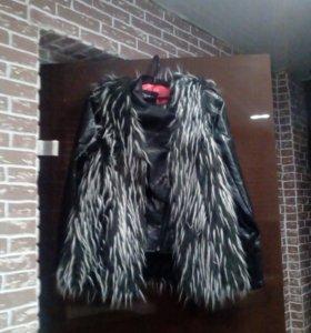 Куртка с жилеткой новая