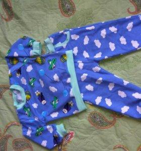 Трикотажный детский костюм с начесом
