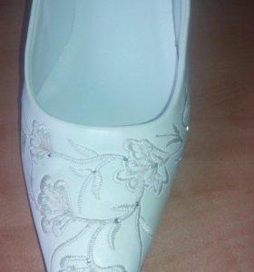 Туфли свадебные 36 р-р