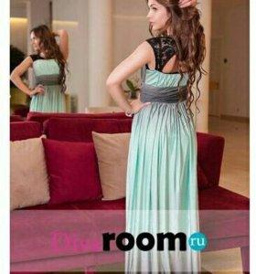 Очаровательное платье с юбкой градиент