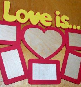 """Фоторамка """"Love is..."""""""