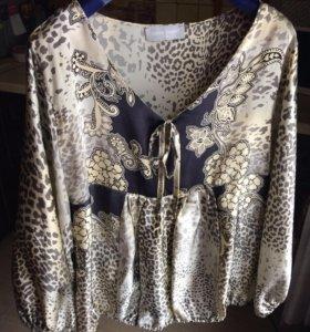 100% шелковая блузка