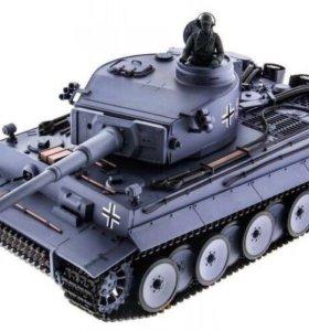 Радиоуправляемый танк HL Tiger с дымом. 1:16, 2.4G