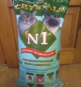 Наполнитель в туалет для кошек N1 Crystals