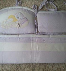 Балдахин,бортики,одеяло,подушка.