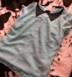 Мятная блузка новая