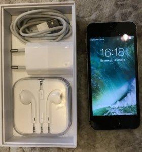 iPhone SE 16gb чёрный / графитовый