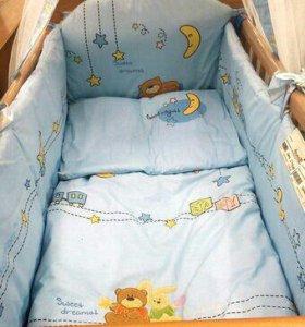 кроватка,матрас,комплект(из7пр)держатель в подарок
