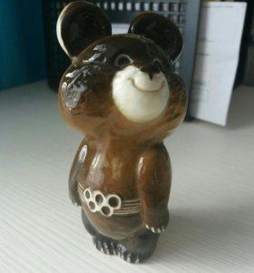 Фарфоровый олимпийский мишка ЛФЗ