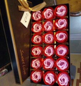 Подарок набор роз из мыла