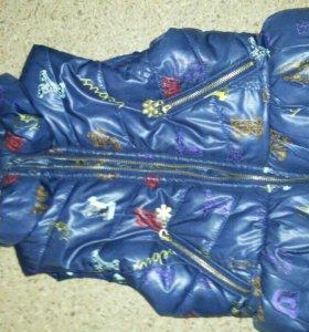 Модная теплая жилетка на девочку 5 лет