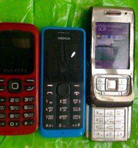Телефоны е65,е105,Alcatel one touch 232
