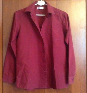 Рубашка бордовая, рост 152 см