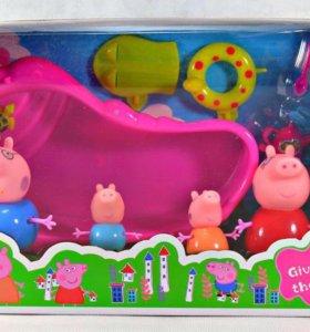 Свинка Пеппа семья и бассейн