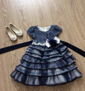 Платье и туфельки и  для девочки
