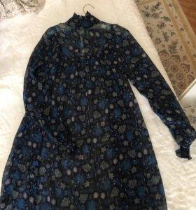 Шифоновое платье -туника