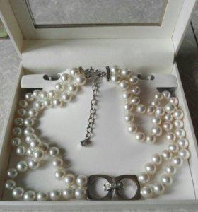Ожерелье жемчуг misaki браслет misaki