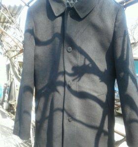 Пальто черное мужское