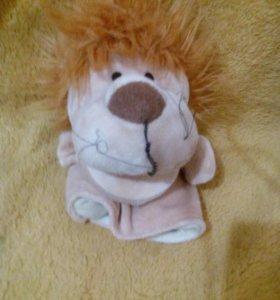 Лев кукольная игрушка