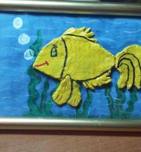 Картина с рыбкой