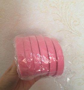 Тейп лента розовая и жёлтая