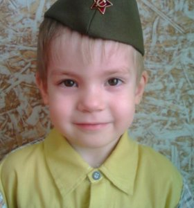 Пилотка советского образца со звездочкой,детская